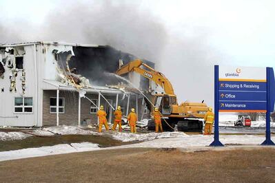 The Glanbia Nutritionals Ingredient Technologies flaxseed processing plant in Angusville was destroyed by fire in March. The company has announced it will not rebuild in the community, but will construct a new facility in Sioux Falls, S.D.