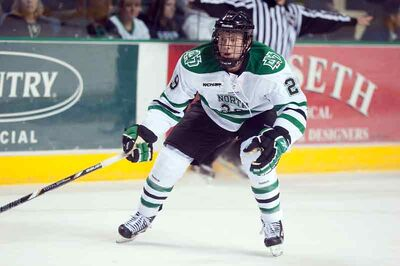 Virden's Bryn Chyzyk is in his first season of NCAA hockey at the University of North Dakota.