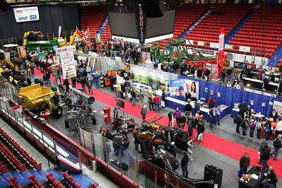 Visitors explore the show floor in Westman Place during the Manitoba Ag Days at the Keystone Centre on Wednesday. Events like Ag Days bring tens of millions in spin-off economic value to Westman, according to a new study.