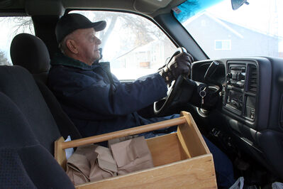 Jack Gullett, 82, is a volunteer delivery driver with Meals on Wheels. The program, co-ordinated through the Prairie Oasis Senior Centre, provides between 50 and 90 meals a day from Monday to Friday.
