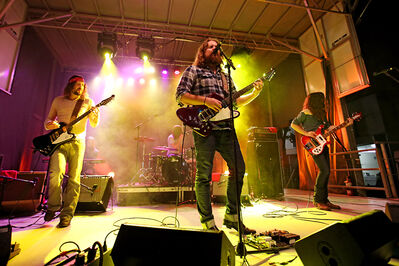 In this September 2013 photo, The Sheepdogs perform during the band's headlining set at Rock the Block 2013 on Rosser Avenue. The Saskatoon band will perform on Aug. 1 at Rockin' the Fields of Minnedosa at Minnedosa Beach.