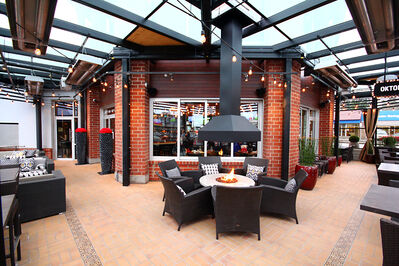 The view of the Browns Socialhouse patio in Surrey, B.C.