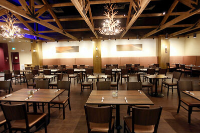 A dining room inside the Sand Hills Casino.
