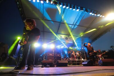 Honeymoon Suite rocked the main stage at Rockin' the Fields at Minnedosa on Saturday night.
