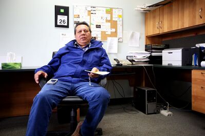 Sioux Valley Dakota Nation Chief Vince Tacan, seen here during an interview in June, says he plans to comply with the First Nations Financial Transparency Act.