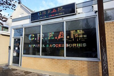 C.R.E.A.M Apparel and Accessories on 10th Street.
