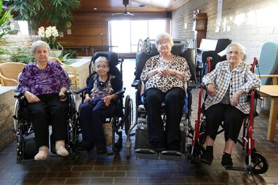 Sisters Olive Templeton, Florence Brown, Margaret Templeton and Gertie Templeton all reside together at the Fairview Personal Care Home in Brandon.