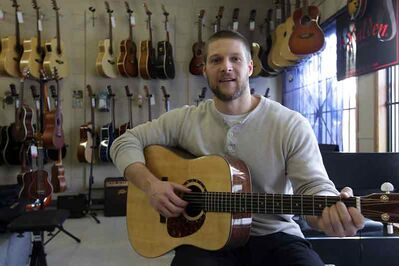 Traditional acoustic guitars are a popular Christmas gift idea this year, says Ian Robinson, owner of Ted Good Music.