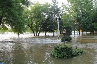 Water levels in St. Lazare are increasing.