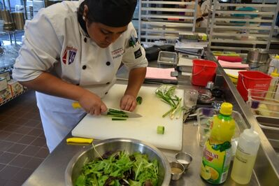 Culinary Arts students were tasked with creating a meal today — but the didn't know the ingredients until they started.