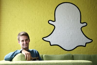 Snapchat CEO Evan Spiegel dropped out of Stanford University in 2012, three classes shy of graduation, to move back to his father's house and work on Snapchat. Spiegel's fast-growing mobile app lets users send photos, videos and messages that disappear a few seconds after they are received.