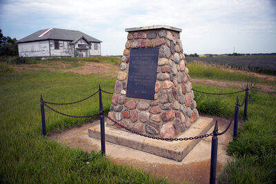 "A cairn commemorating McConnell, a ghost town that is the focus of ""Very Good Dirt,"" a documentary by Vancouver-based director Catharine Parke, which is being featured at the Cannes International Film Festival."