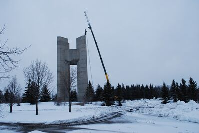 The demolition process has begun at the Peace Tower. It's expected to take one to two weeks, depending on the weather.