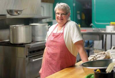 Sharon Craig, who has been working as a paid cook at Helping Hands Soup Kitchen for more than eight years, is a finalist in Shreddies' Search for Goodness contest.