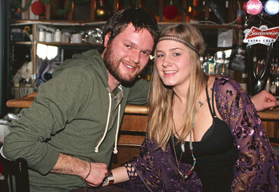 Dave Comrie and Hailey Smith.