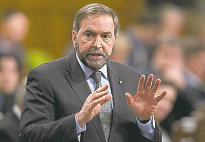 NDP leader Tom Mulcair will be in Brandon on Monday.
