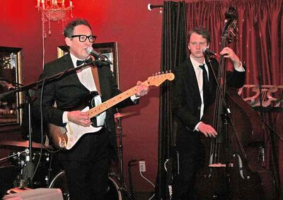 A Buddy Holly tribute band performs at Lady of the Lake on New Year's Eve.