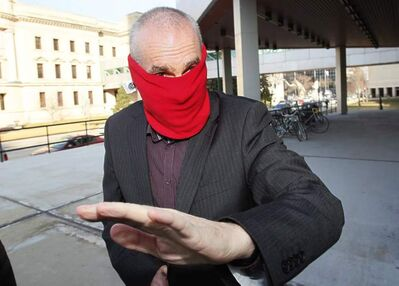Graham James arrives at court for sentencing in Winnipeg on March 20, 2012.