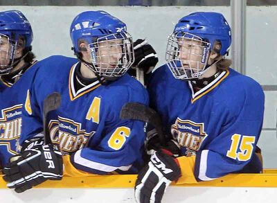 Former Yellowhead Chiefs twins Brad and Shawn Bowles are teammates again with Portage.