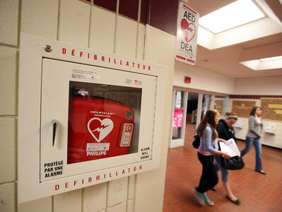 Manitoba was the first province in Canada to develop legislation requiring certain public places to have an automated external defibrillator available on site.