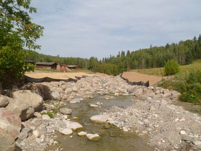 Restored creek bed at McKinnon Creek - Agassiz site.
