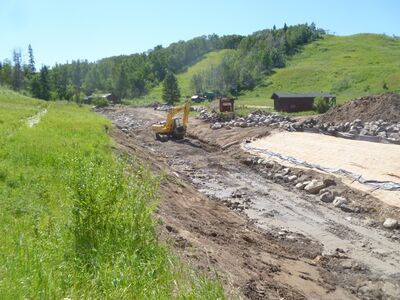 Working at the McKinnon Creek - Agassiz site.