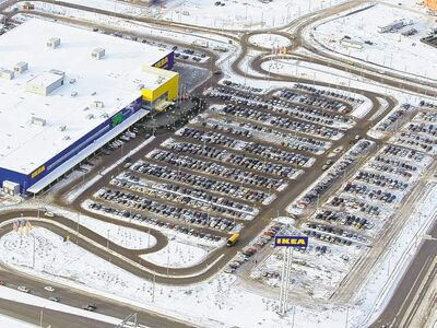 The full IKEA parking lot had a few distant empty spots Wednesday.