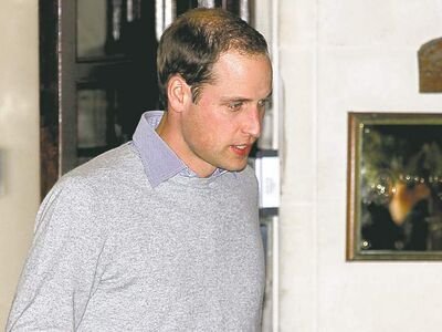 Sang Tan / The Associated PressPrince William leaves London�s King Edward VII hospital Monday. His wife, the Duchess of Cambridge, was admitted with a severe form of morning sickness.