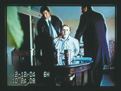 A still capture of video from the undercover sting operation that netted Bridges.
