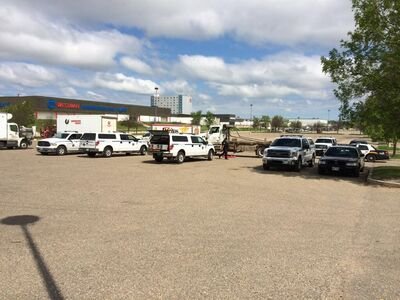 Inspectors checked more than three dozen commercial trucks and trailers on Tuesday.
