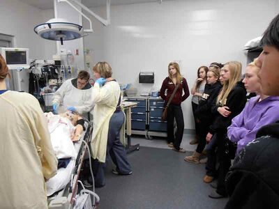 Students from Brandon's three high schools participate in the P.A.R.T.Y. program at the Brandon Regional Health Centre, witnessing treatment and rehabilitation following a mock-trauma involving risky behaviour and substance abuse.