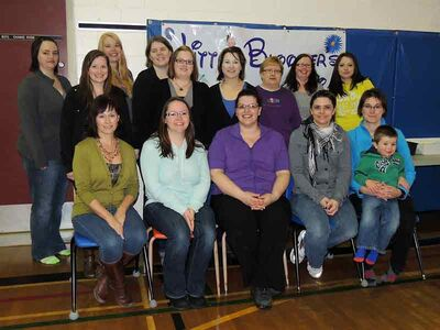 It was a day of celebration in Binscarth April 6 with the grand opening of a new daycare in the town. Above, the staff and board of directors for Little Bloomer's Learning Patch Inc. were all smiles for their group shot.