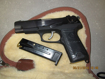 This gun, along with two magazines, were seized at the Lyleton border crossing in southwestern Manitoba in June. All were loaded.