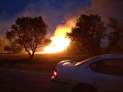 The historic 'Big House' at Criddle/Vane historic site burns to the ground Wednesday night.
