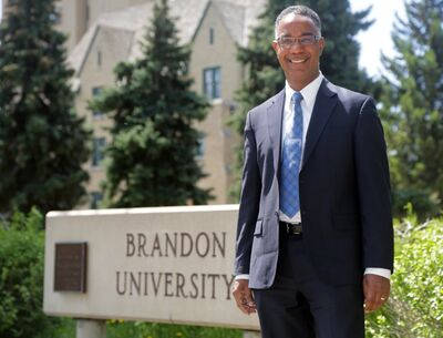 Dr. Gervan Fearon will be assuming the role of president of Brandon University later this summer.  FOR LINDSAY STORY (Colin Corneau/Brandon Sun)