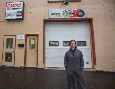 Christy Wood, co-owner and operator of One Stop Repair Ltd., is pictured outside of the downtown Brandon shop. (Chelsea Kemp/The Brandon Sun)