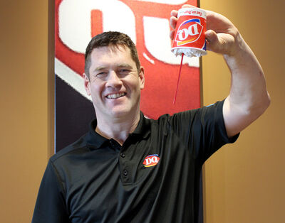 Business owner Laird Lidster inside the new Dairy Queen Grill & Chill at the Corral Centre. (Drew May/The Brandon Sun)