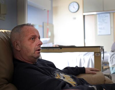 Michael Adamski is seen at the Brandon Regional Health Centre in February. The Vincent Massey principal and Brandon Wheat Kings public address announcer, who was diagnosed with an aggressive form of brain cancer, died on Saturday at the age of 56.