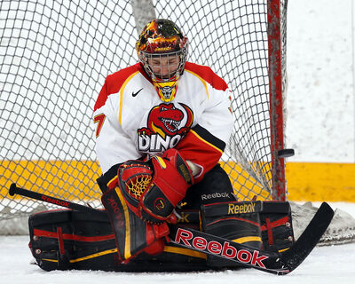 Former Brandon Wheat Kings goaltender Jacob DeSerres is having a superb season for the first-place University of Calgary Dinos in the Canada West conference. DeSerres sports a 1.56 goals-against average and a .937 save percentage.