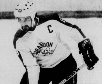 Bob Jaska is shown during his time with the Brandon Olympians in the 1970s.
