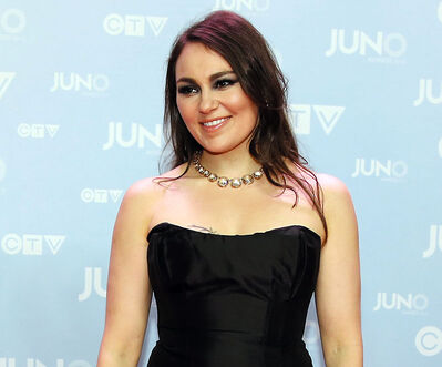 Inuit throat singer Tanya Tagaq, who lives in Brandon, poses on the red carpet during the 2015 Juno Awards in Hamilton, Ont., earlier this month. Tagaq, along with A Tribe Called Red and Digging Roots, will headline this summer's Brandon Folk, Music and Art Festival.