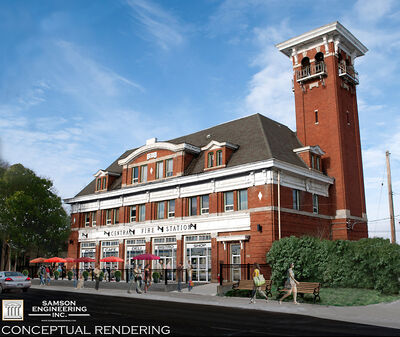 The proposal from Samson Engineering Inc. to redevelop the historic former fire hall was accepted by Brandon City Council earlier this month. This is the engineering firm's conceptual rendering of its plans, which would include an outdoor patio and potentially several tenants, such as a café, bistro or pub on the main floor.