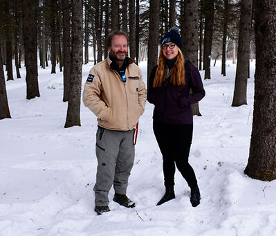 Tim Sallows and Christina Prokopenko have spent years studying wolves in Riding Mountain National Park.