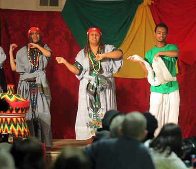 Dancers perform at the Ethiopian pavilion during the 10th annual Lieutenant Governor's Winter Festival on Friday night.
