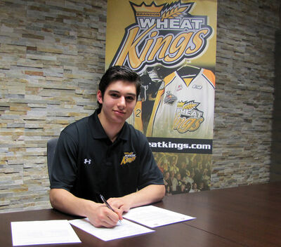 First overall WHL bantam draft pick Stelio Mattheos has signed with the Brandon Wheat Kings.