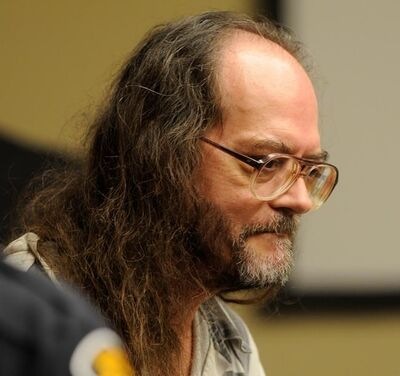 FILE - In this Aug. 16, 2010 file photo, Billy Ray Irick, on death row for raping and killing a 7-year-old girl in 1985, appears in a Knox County criminal courtroom in Knoxville, Tenn., arguing that he's too mentally ill to be executed by the state. The Tennessee Supreme Court has refused to stay Thursday's Aug. 9, 2018, scheduled execution of the convicted child killer while the state's new lethal injection protocol continues to be challenged on appeal. The order brings Tennessee within days of killing Irick with a three-drug cocktail, barring some last-minute change. (Michael Patrick/The Knoxville News Sentinel via AP, File)