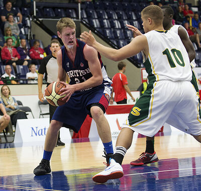 New Brandon University Bobcats recruit Ryan Cowley played for British Columbia at the Canada Games last year.