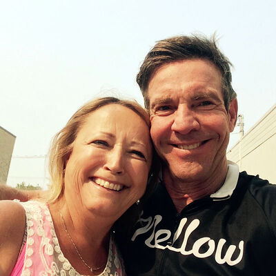 Bev Tweed took a selfie with actor Dennis Quaid on Saturday. Tweed happened on Quaid, who had a flat bicycle tire south of Brandon, and gave him a ride to A&L on Rosser Avenue to get his tire fixed.