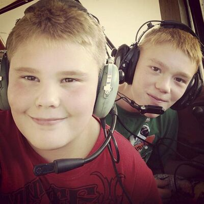 The Spence brothers Logan (front) and Gage.