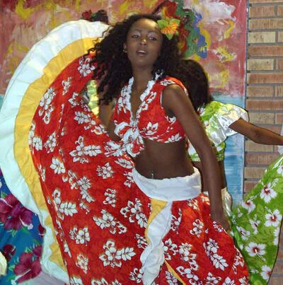 A young woman performs the sega dance at the Mauritius pavilion at the 10th annual Lieutenant Governor's Winter Festival's opening night.